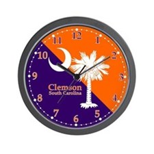 Clemson Flag Wall Clock