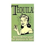 Tequila Rectangle  Aufkleber