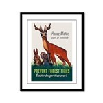Prevent Forest Fires Framed Panel Print