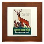 Prevent Forest Fires Framed Tile