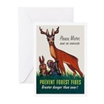 Prevent Forest Fires Greeting Cards (Pk of 10)