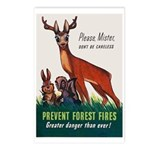 Prevent Forest Fires Postcards (Package of 8)