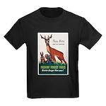Prevent Forest Fires (Front) Kids Dark T-Shirt