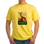 Prevent Forest Fires Yellow T-Shirt