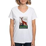 Prevent Forest Fires Women's V-Neck T-Shirt