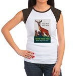 Prevent Forest Fires (Front) Women's Cap Sleeve T-
