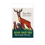 Prevent Forest Fires Rectangle Sticker
