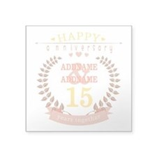 """Personalized Name and Year Square Sticker 3"""" x 3"""""""