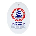 Go USA Go Army Oval Ornament