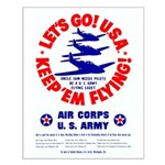 Go USA Go Army Small Poster