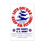 Go USA Go Army Mini Poster Print