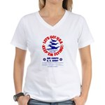 Go USA Go Army (Front) Women's V-Neck T-Shirt