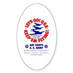 Go USA Go Army Oval Sticker