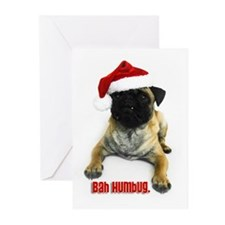 "'Bah Humbug"" Pug Greeting Cards (Pk of 10)"