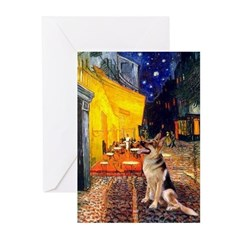 Cafe / G-Shephard Greeting Cards (Pk of 20)