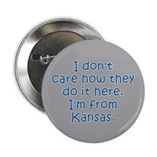 "From Kansas 2.25"" Button"