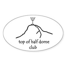 Top Of Half Dome Club Oval Decal