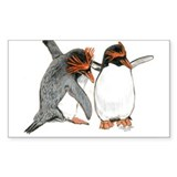 Dance of Love Penguins Rectangle Decal