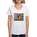Lilies & G-Shep Women's V-Neck T-Shirt
