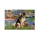 Lilies & G-Shep Rectangle Magnet