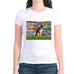 Lilies & G-Shep Jr. Ringer T-Shirt