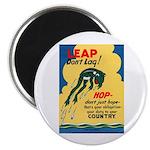 Leap Don't Lag Frog Magnet