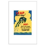 Leap Don't Lag Frog Large Poster