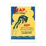 Leap Don't Lag Frog Mini Poster Print