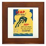 Leap Don't Lag Frog Framed Tile
