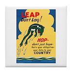 Leap Don't Lag Frog Tile Coaster