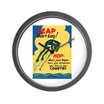 Leap Don't Lag Frog Wall Clock