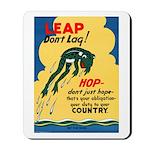 Leap Don't Lag Frog Mousepad
