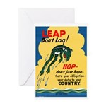 Leap Don't Lag Frog Greeting Card