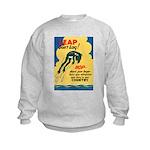 Leap Don't Lag Frog Kids Sweatshirt