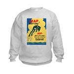 Leap Don't Lag Frog (Front) Kids Sweatshirt