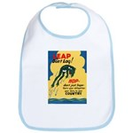 Leap Don't Lag Frog Bib