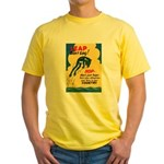 Leap Don't Lag Frog (Front) Yellow T-Shirt