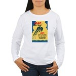 Leap Don't Lag Frog (Front) Women's Long Sleeve T-