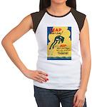 Leap Don't Lag Frog Women's Cap Sleeve T-Shirt