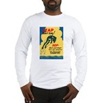 Leap Don't Lag Frog (Front) Long Sleeve T-Shirt