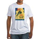 Leap Don't Lag Frog (Front) Fitted T-Shirt