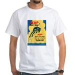 Leap Don't Lag Frog (Front) White T-Shirt
