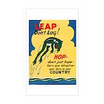 Leap Don't Lag Frog Rectangle Sticker