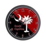 Gamecock Flag Wall Clock