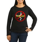 No Waxels! Women's Long Sleeve Dark T-Shirt