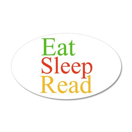 Eat Sleep Read Wall Decal