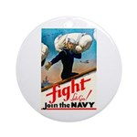 Join the Navy Ornament (Round)