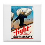 Join the Navy Tile Coaster