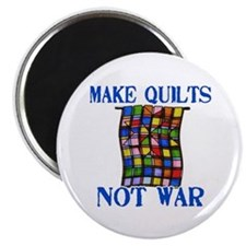 "Make Quilts Not War 2.25"" Magnet (10 pack)"