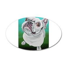White French Bulldog Decal Wall Sticker